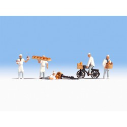 HO/ Boulangers : 5 figurines + accesoires