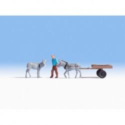 HO/ Charrette à âne