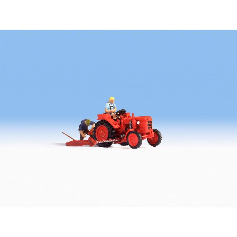 HO/ Tracteur avec figurine