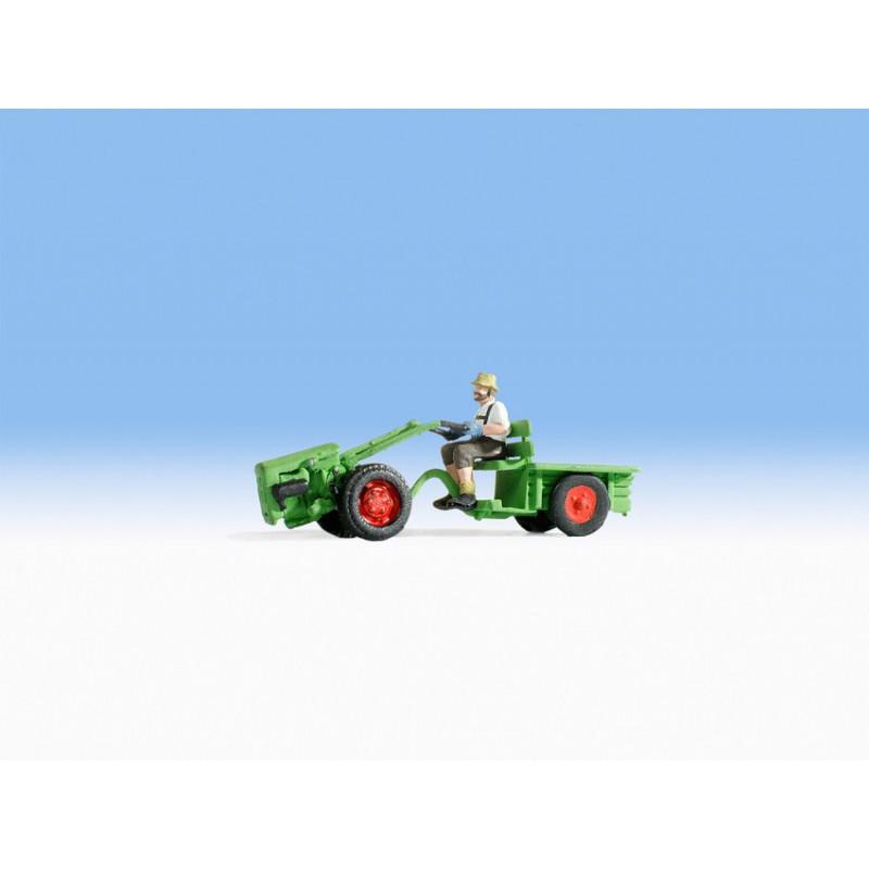 HO/ Motoculteur avec figurine