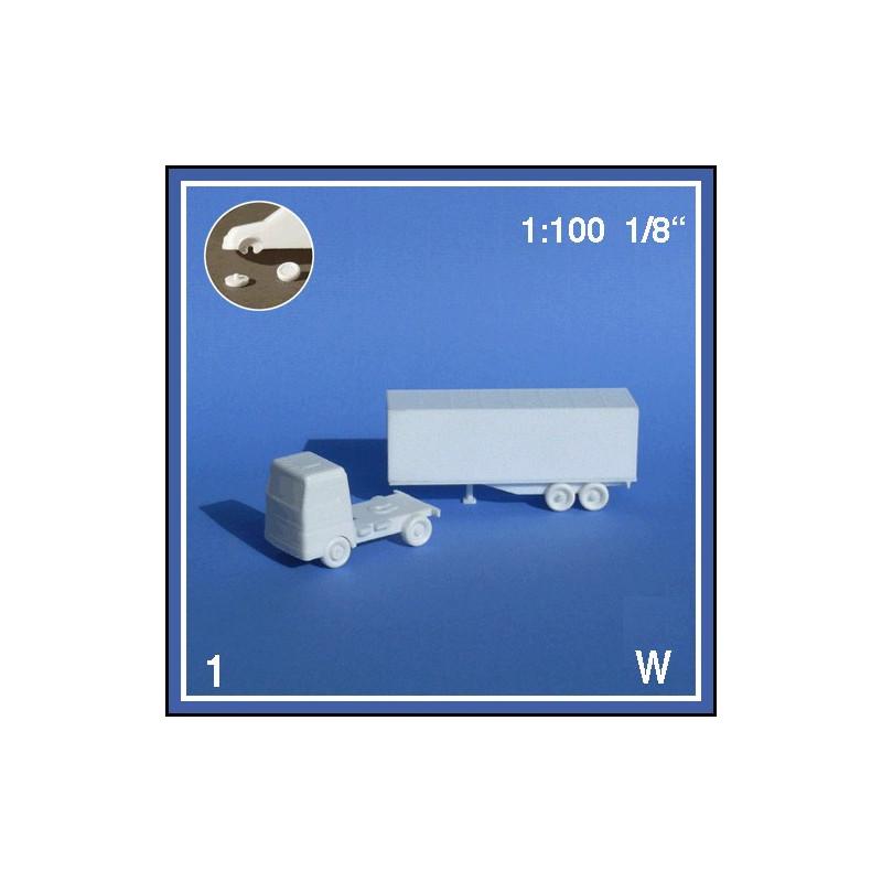 Semi remorque blanc 1:100