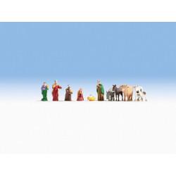 HO/ Figurines de crèche de Noël