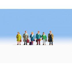 HO/ Voyageurs : 6 figurines + accessoires