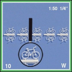 10 Bicyclettes blanches divers 1:50