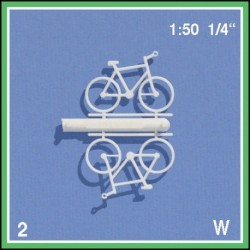 4 Bicyclettes blanches 1:50