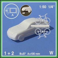 Voiture + 2 bicyclettes 1:50
