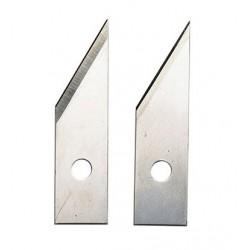 Jeu de 2 lames de rechange pour cutter double coupe
