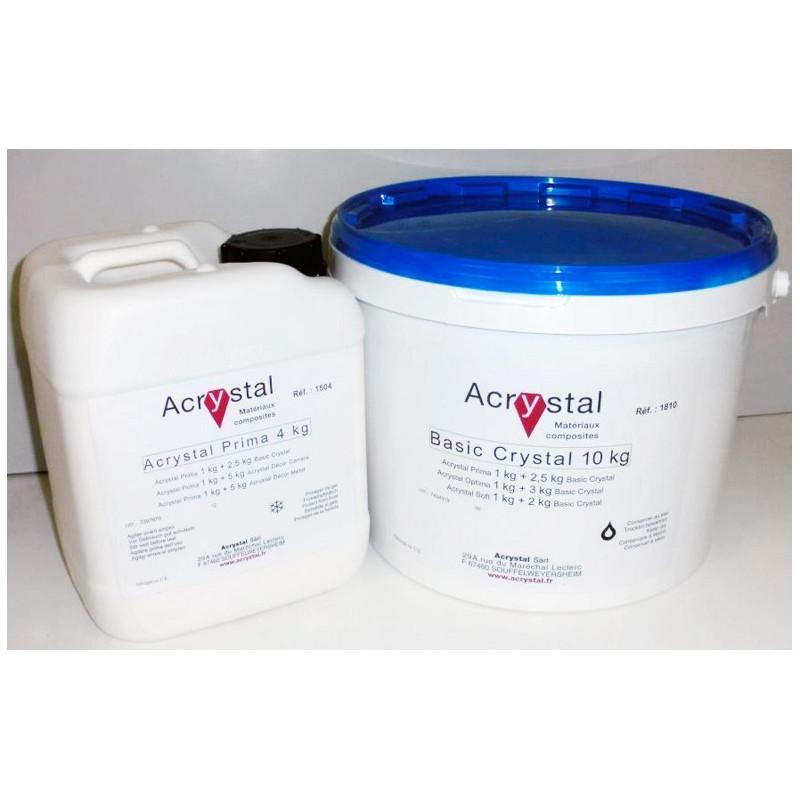 Kit Acrylique de 3500Kg comprenant 1000kg de liquide Acrystal PR