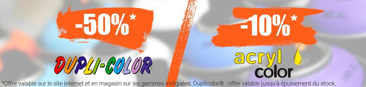 Promotion sur la gamme Duplicolor et Acryl Color !